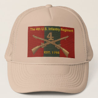 4th Infantry Regiment History DUI Trucker Hat