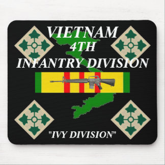 4th Infantry Vietnam Mousepad 2/b