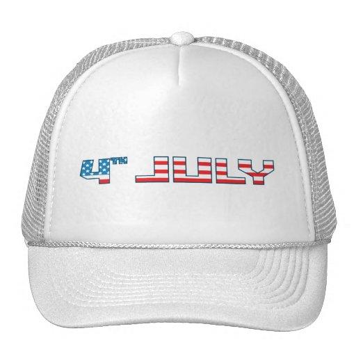 4th july america 3 trucker hat