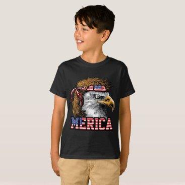 4th July American flag Bald Patriot Eagle Shirt