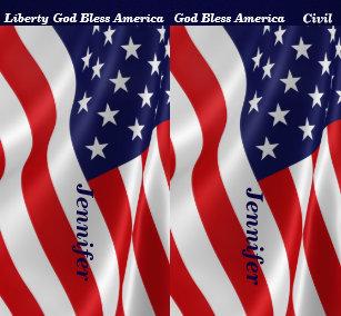 34fe037e1882b3 4th JULY American Flag Leggings Your Name Parade