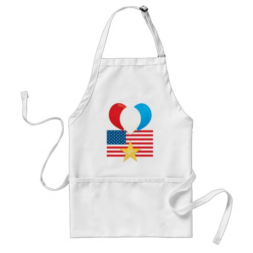 4th July Balloons Adult Apron