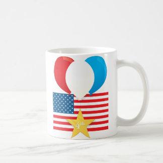 4th July Balloons Classic White Coffee Mug