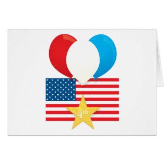 4th July Balloons Greeting Card