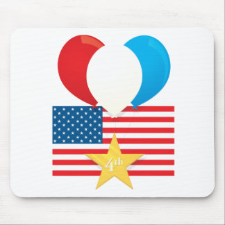 4th July Balloons Mouse Pad