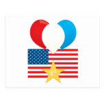 4th July Balloons Postcards