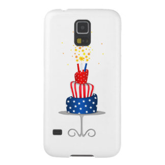 4th July Celebration Cake in Red, White and Blue Galaxy S5 Case