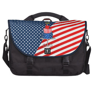 4th July Celebration Cake in Red, White and Blue Commuter Bag