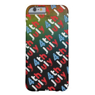 USA Themed 4th July Grunge Effect Barely There iPhone 6 Case