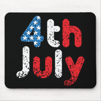 4th July Grunge Effect Mouse Pad