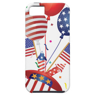 4th July Hat Balloons American Flag Firecrackers iPhone SE/5/5s Case