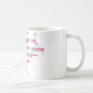4th July - Independence Day - America Dot Matrix Coffee Mug