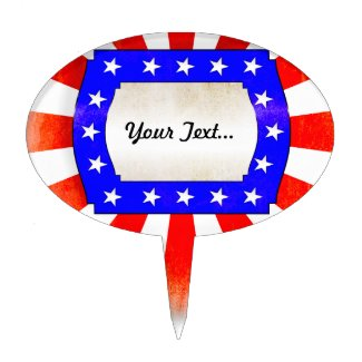 July 4th Independence Day Cake Topper