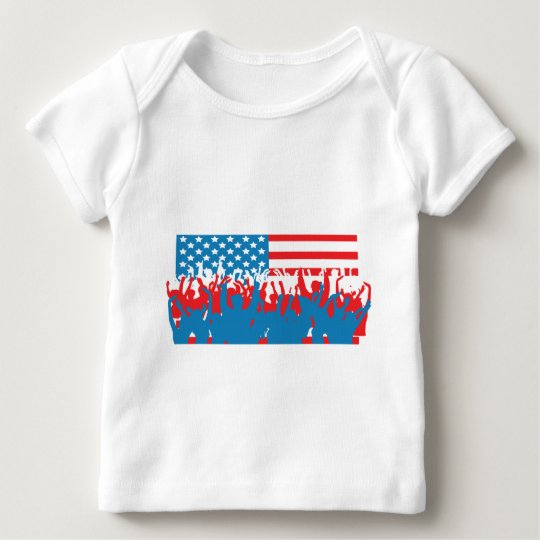 4th July - Independence Day - Flag Celebrations Baby T-Shirt