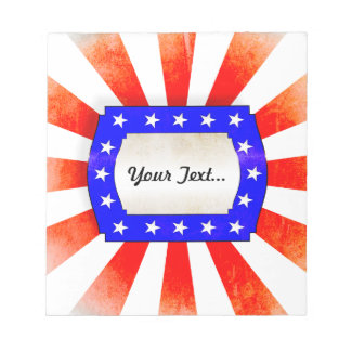 4th July Independence Day Note Pad