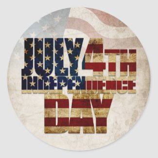 July 4th Independence Day V2.0 2020 Classic Round Sticker