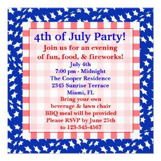 4th July Invitation
