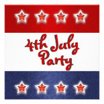 4th July invitations - customizable template