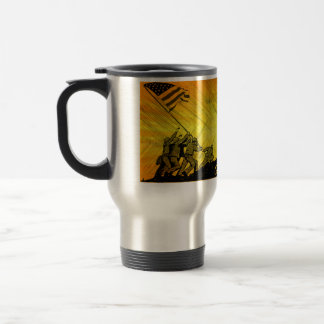 4th July Iwo Jima God Bless America Aluminum Mug