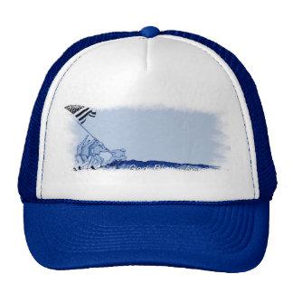 4th July Iwo Jima God Bless America Cap Trucker Hat