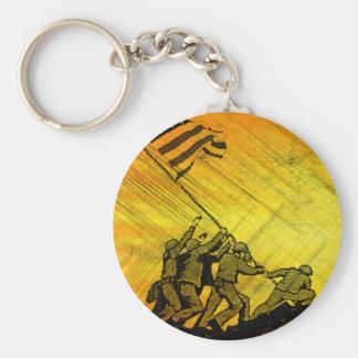 4th July Iwo Jima God Bless America Key Chain