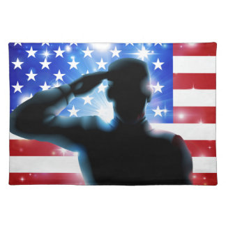 4th July or Veterans Day Illustration Place Mat