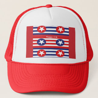 4th july party trucker hat