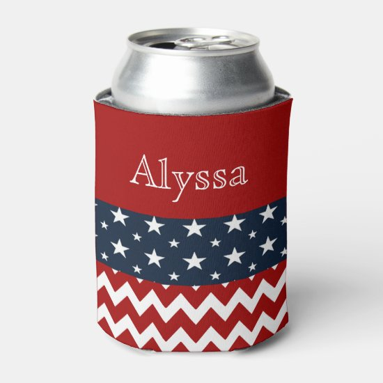 4th July Personalized Can Holder Can Cooler