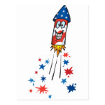 4th July Rocket Post Cards