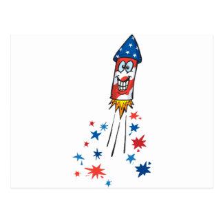 4th July Rocket Postcard