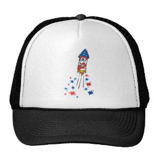 4th July Rocket Trucker Hat