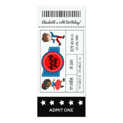4th July Sock Hop Party Ticket Invitation