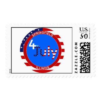 4th July Springfield Postage Stamp