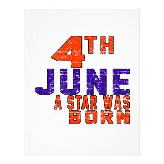 4th June a star was born Personalized Letterhead