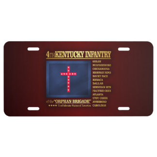 4th Kentucky Infantry (BA2) License Plate