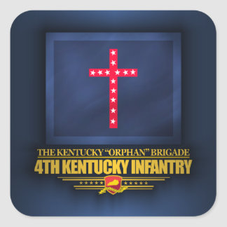 4th Kentucky Infantry Square Sticker