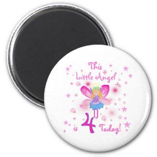 4th Little Angel Birthday Refrigerator Magnet