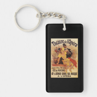 4th Masked Ball at Theatre de l'Opera Double-Sided Rectangular Acrylic Keychain