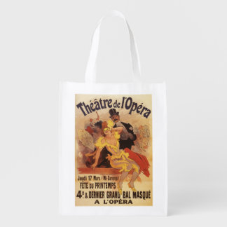 4th Masked Ball at Theatre de l'Opera Reusable Grocery Bag
