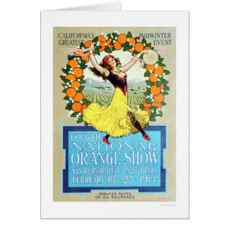 4th National Orange Show 1914 Card
