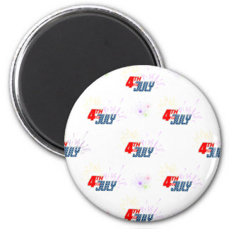 4TH-OF-JULY 2 INCH ROUND MAGNET
