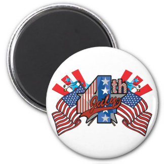 4th of July 2 Inch Round Magnet