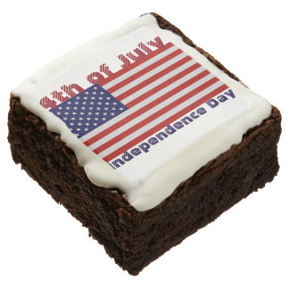 """4th of July 2"""" x 2"""" Brownies - One Dozen"""