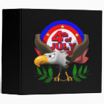 4th Of July 3 Ring Binders
