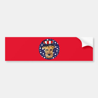 4th of JULY AIREDALE Bumper Sticker