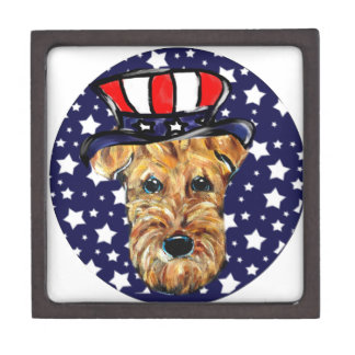 4th of JULY AIREDALE Jewelry Box