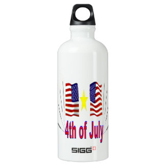 4th Of July Aluminum Water Bottle