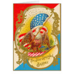 4th of July American Eagle Cards