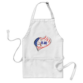4th of July American Flag Adult Apron