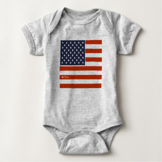 """4th of July American Flag """"Be Free"""" Baby Bodysuit"""